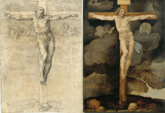 michelangelo-crocifissione-confronto